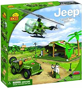 COBI Small Army Jeep Willy's M38 MASH Historical Replica, 300 Piece Set