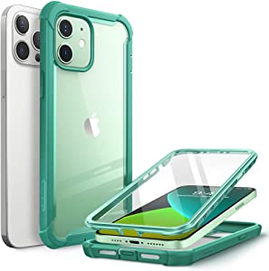 i-Blason Ares Case for iPhone 12, iPhone 12 Pro 6.1 Inch (2020 Release), Dual Layer Rugged Clear Bumper Case with Built-in Screen Protector (MintGreen)