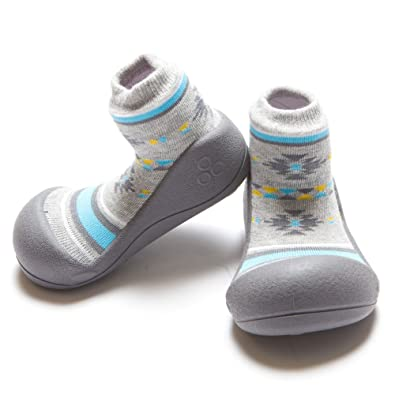 96d186e60cca8 Attipas First Walking Shoes with Socks for Baby Boys Girls (Small, Nordic  Grey)