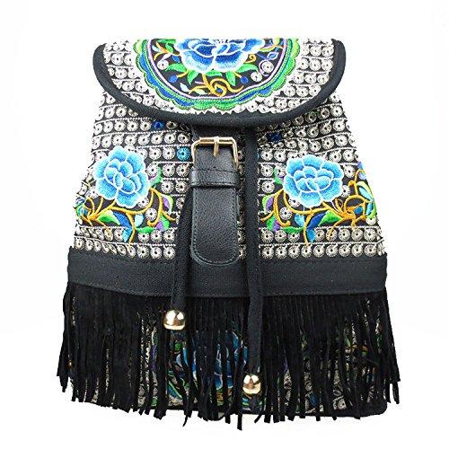 Casual Backpack School Bag Shoulder Bag Daypack Designer Tote For Women And Girls Bluecamellia