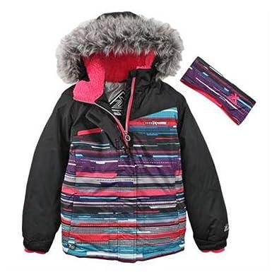 9ae242939 Amazon.com  ZeroXposur Girl Multicolor Stripe Coat Puffer Snowboard ...