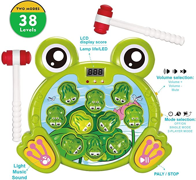Girls Boys YEEBAY Interactive Pop Up Animals Toy /&  Whack A Frog Game Bundle Great Toys for Toddler