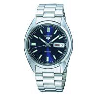 Seiko Men's Analogue Automatic Self-Winding Watch with Stainless Steel Bracelet – SNXS73K