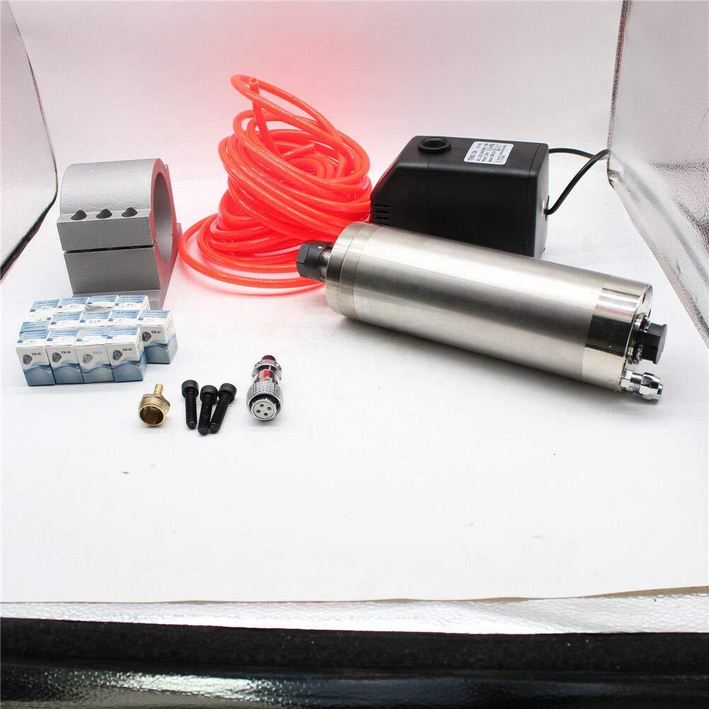 OUKANING Spindelmotor 2,2KW ER20 WASSERGEK/ÜHLTE SPINDEL FR/ÄSMOTOR F/ür CNC VFD+Wasser Pumpa kit
