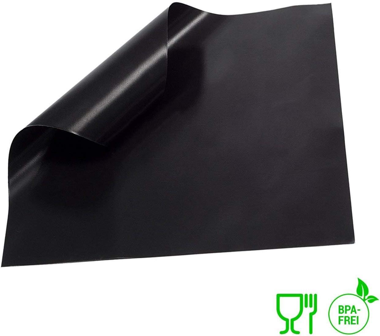 3er Set Backunterlage Teflon antihaftend D/örrfolie Backmatte EXTRA DICK Collory Premium Dauerbackfolie XL Backfolie schwarz Backpapier wiederverwendbar 50x40cm gro/ß Lebensmittelecht BPA-Frei