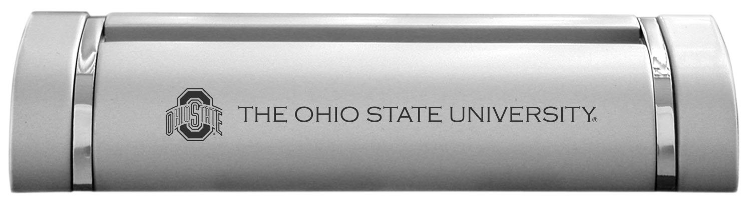 Amazon.com : Ohio State University-Desk Business Card Holder -Silver ...