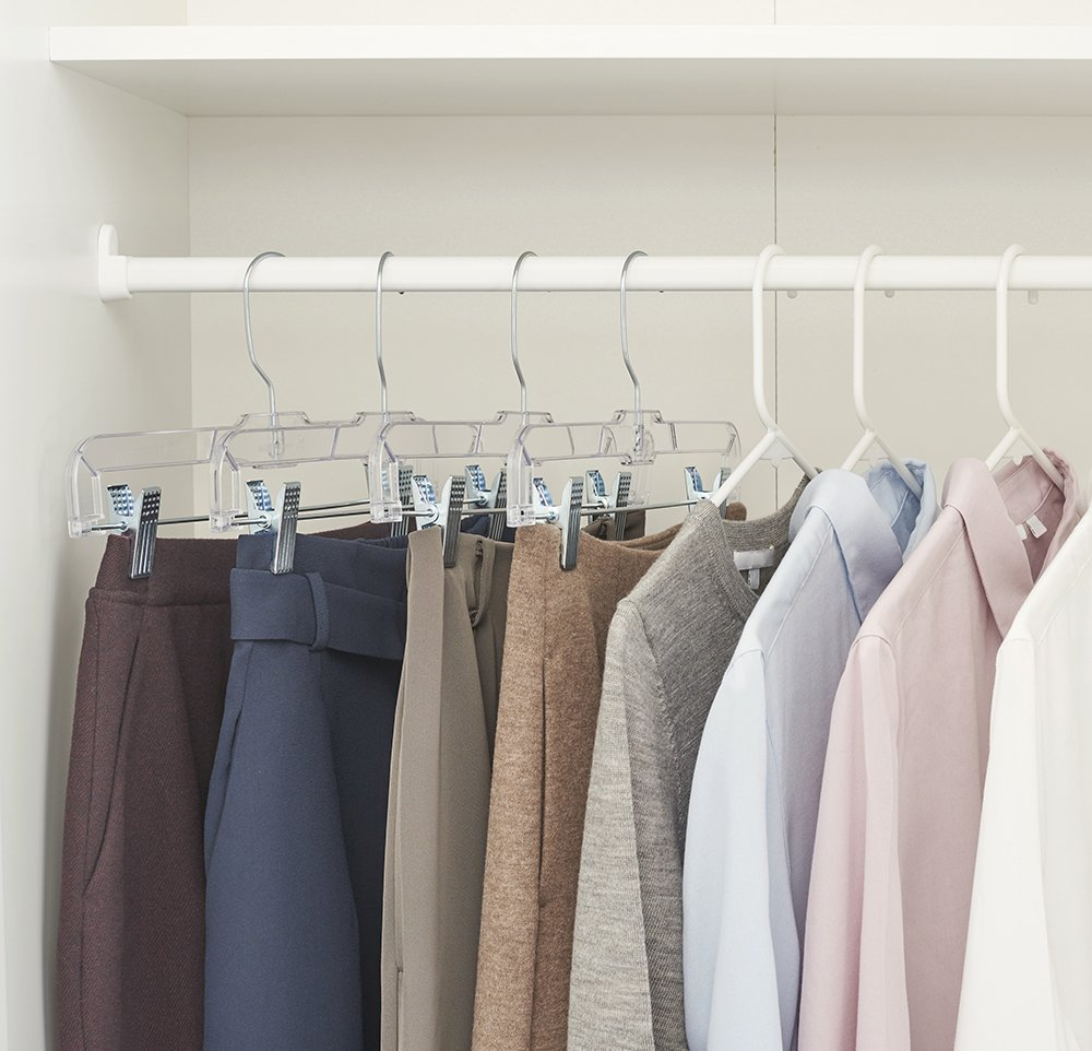 Crystal Skirt/Slack Hangers, Clear, Set of 25