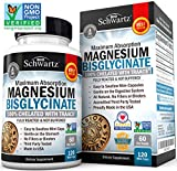 Magnesium Bisglycinate 100% Chelate TRAACS. No-Laxative Effect. Maximum Absorption & Bioavailability, Fully Reacted