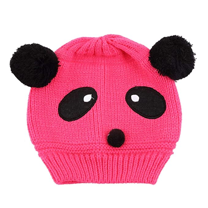 8b8a8bc5672 ... Lovely Animal Cartoon Panda Baby Hats and Caps Kids Boy Girl Crochet Beanie  Hats Winter Cap for Children to Keep Warm  Amazon.ca  Clothing   Accessories