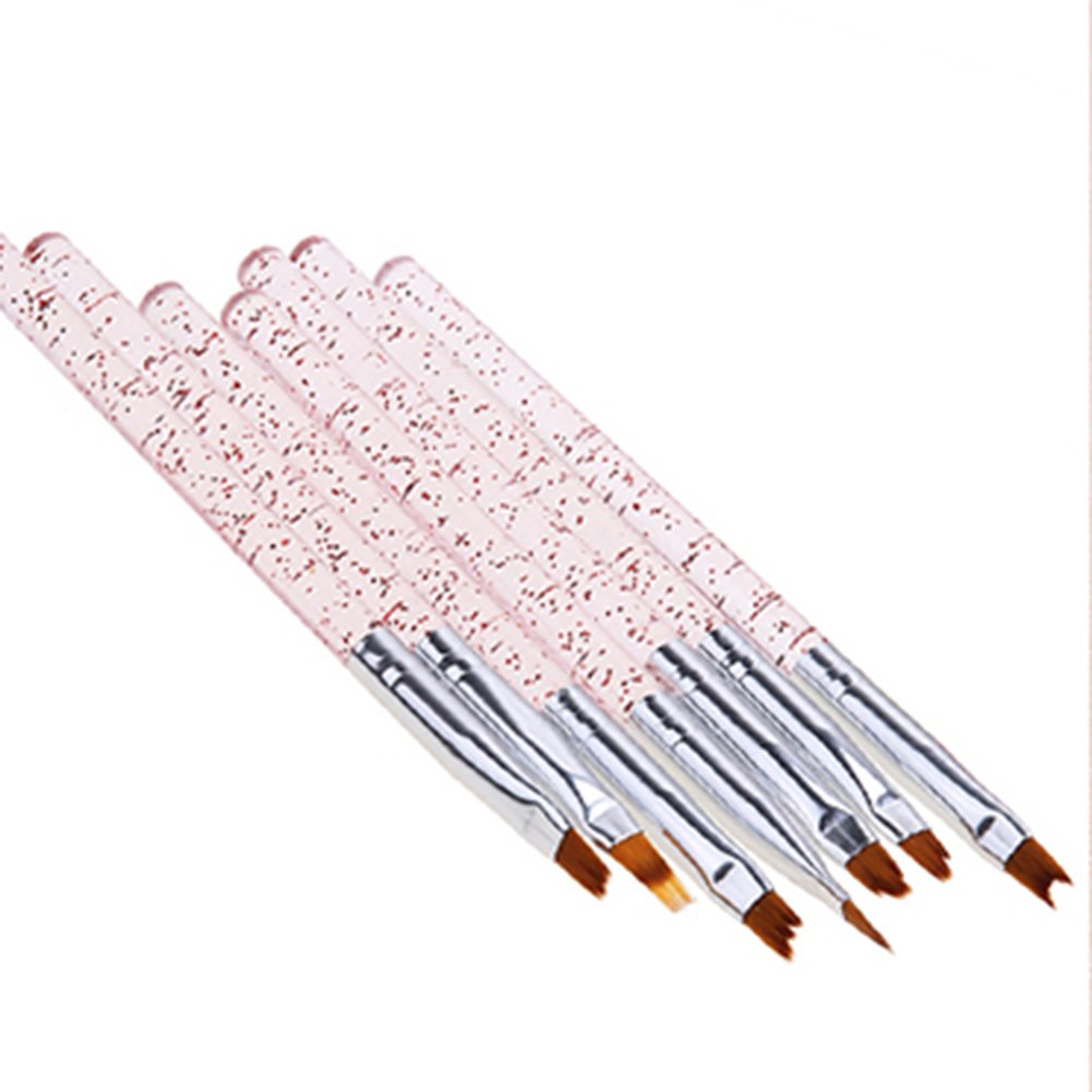 Blue Vessel 7 Pc Nail Art Pen Pinsel Clear Gel Malerei Zeichnung Gradient Maniküre Werkzeug