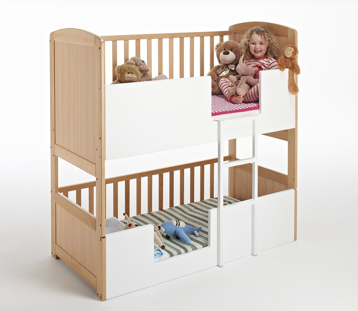The Bunk Cot Company 3 In 1 Bunkcot 0 6 Yrs Beech Amazoncouk Baby