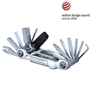 Topeak Mini 20 Pro 15400166 - Herramienta multiusos (con 20 herramientas, aluminio) plata