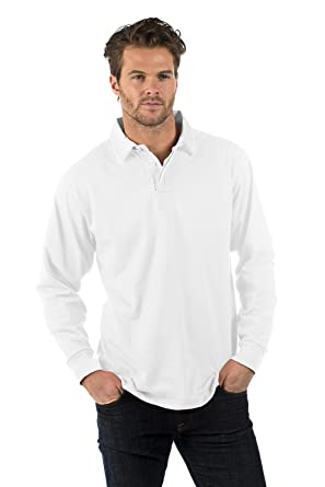 6d77c482033 Bruntwood Premium Long Sleeve Rugby Shirt - 280GSM - Cotton/Polyester:  Amazon.co.uk: Clothing