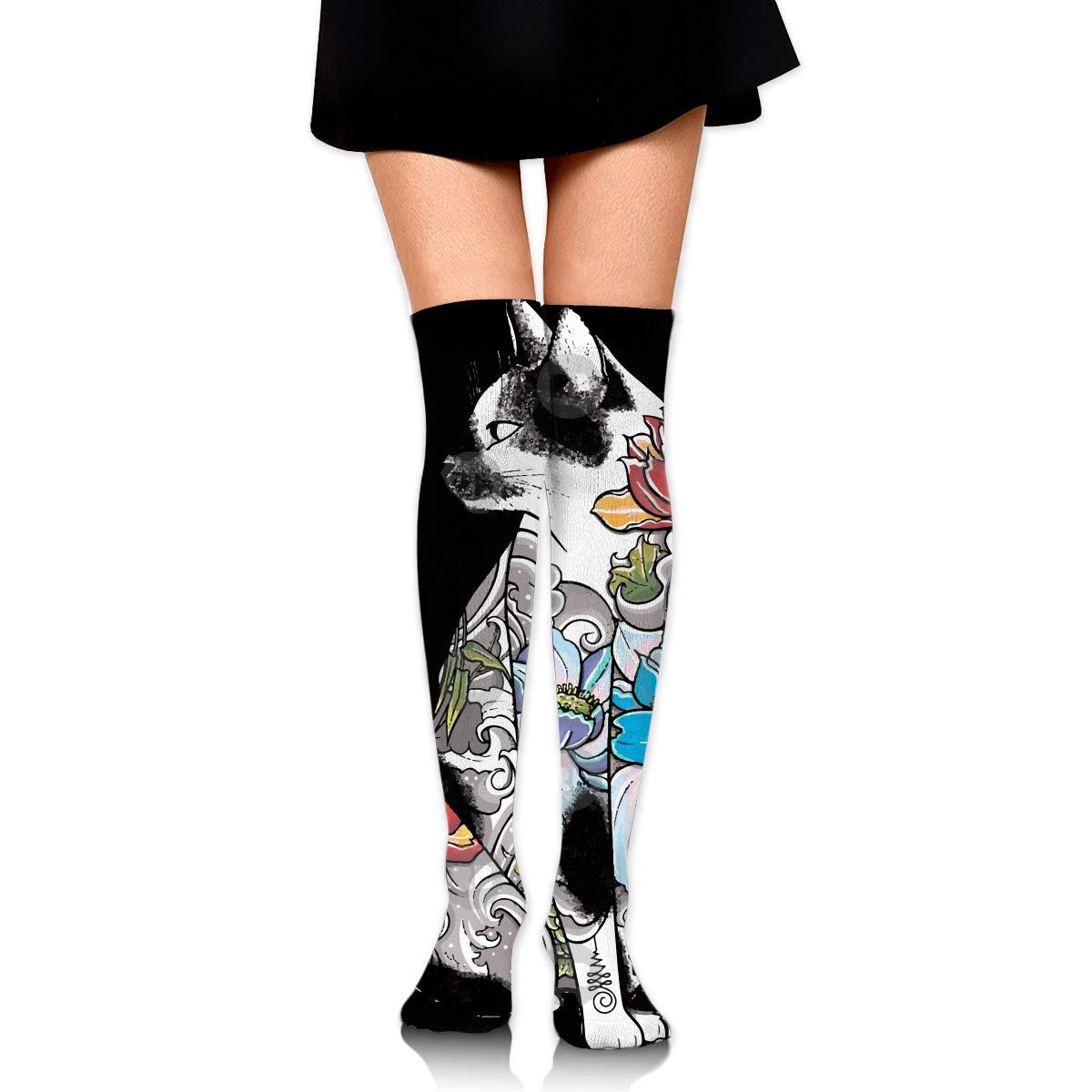 Womens//Girls Beautiful Kitty Casual Socks Dresses Over The Knee High Socks 23.6