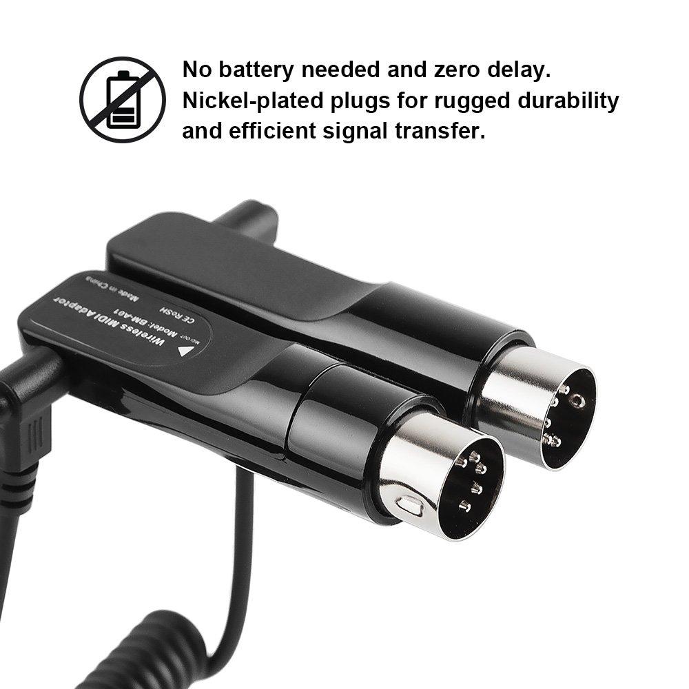 Amazon.com: Vangoa BM-A01 Bluetooth Wireless 5-PIN MIDI Adapter MIDI Cable for MIDI Keyboard Piano: Computers & Accessories