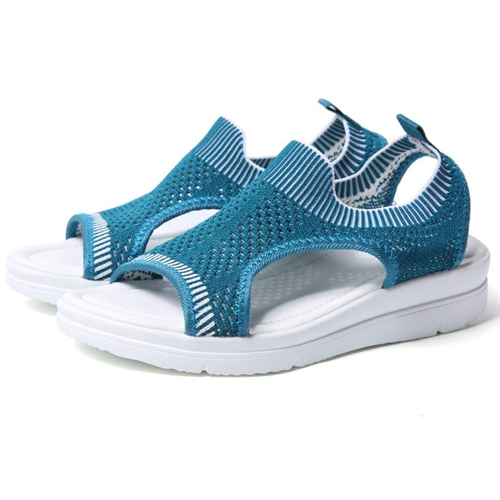 ✔ Hypothesis_X ☎ Men's and Women's Garden Clogs Shoes Sandals Slippers Roman Casual Flock Sandals Dark Blue by ✔ Hypothesis_X ☎ Shoes (Image #7)