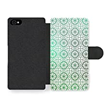 Circle and Geometrical Stained Glass Pattern Faux Leather case for iPhone 4 4S