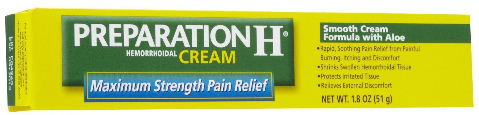 Preparation H Maximum Strength Hemmorhoidal Cream-1.8 oz
