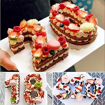 Moldes de silicona para hornear tartas de 0 a 8 números de Baker ...