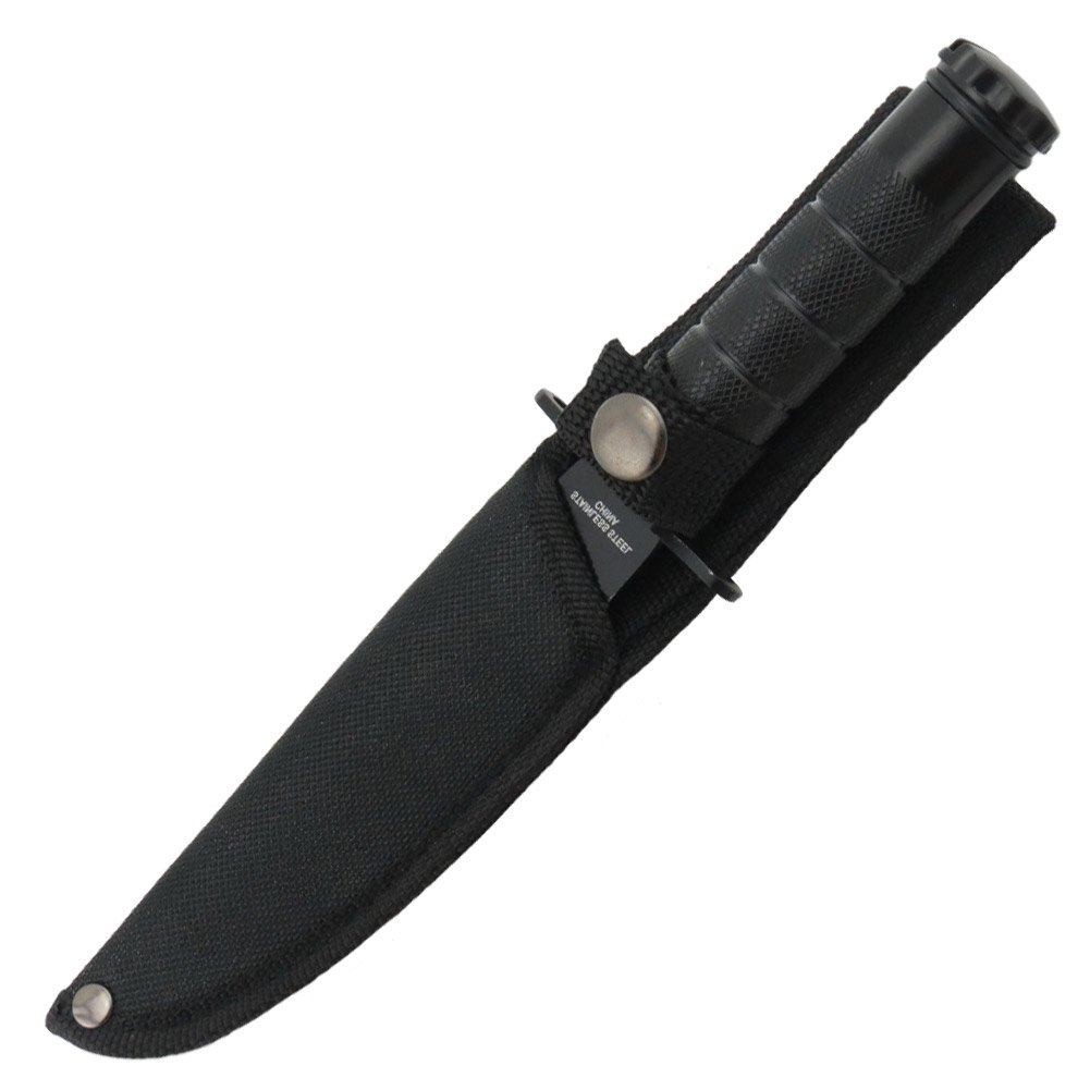 Mini Hunting 1045 Surgical Steel Sawback Survival Knife by Armory Replicas