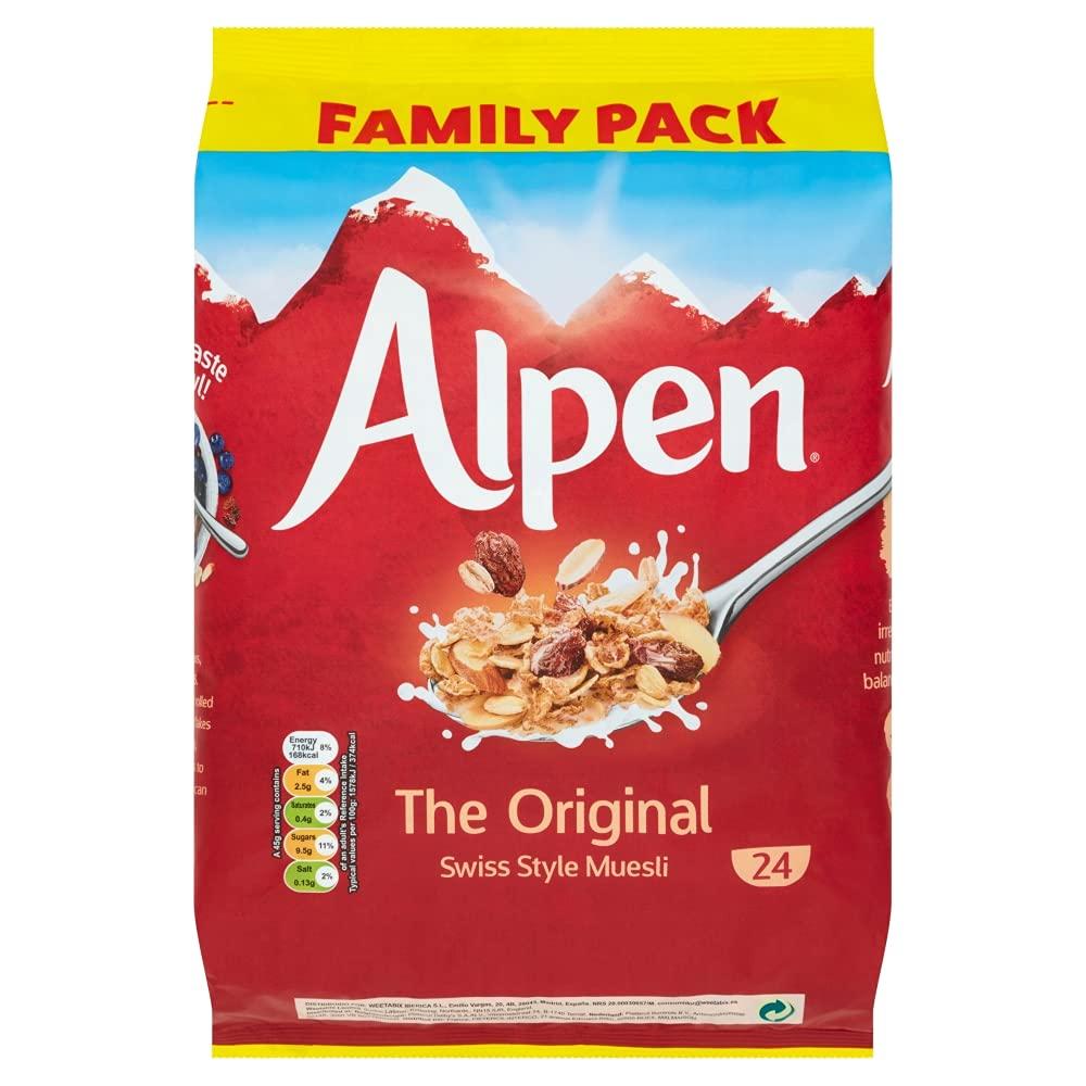 Alpen No Added Sugar Swiss Style Muesli Wholegrain Oat Wheat Breakfast - 1.1kg