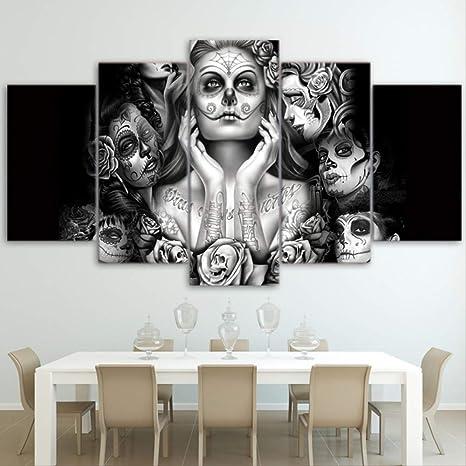 Acheter tableau peinture tete de mort online 17