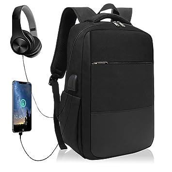 af623f79f2 XQXA Sac à Dos Ordinateur Portable Homme Imperméable Antivol avec USB  Charging Port Sac a Dos
