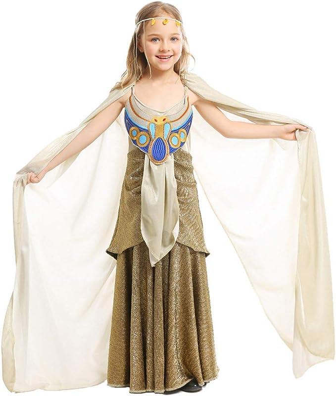 QZ ZQ Disfraz de Cleopatra para niña, Disfraz de Princesa egipcia ...