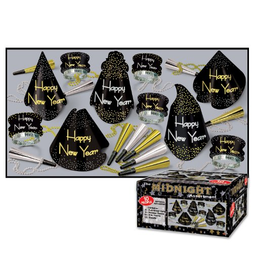 The Midnight Asst for 10 (NO RETAIL PRICE ON CARTON) Party Accessory  (1 (New Years Eve Hat)