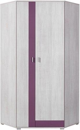 Armario esquinero juvenil habitaciones Lila 195 x 90 x 90 cm: Amazon.es: Bricolaje y herramientas