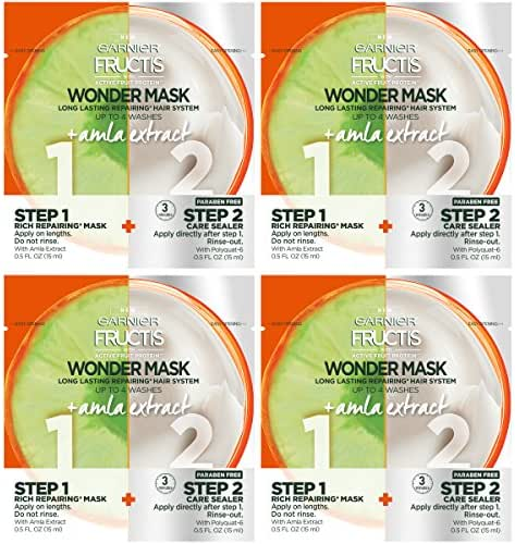 Garnier Hair Care Fructis Wonder Mask + Amla Extract, 4 Count
