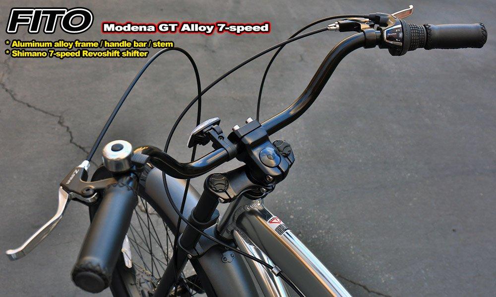 4 BOLT FITO Aluminum Alloy GT STYLE Handle Bar Stem for Beach Cruiser Bikes BMX Bikes SILVER Comfort Bikes