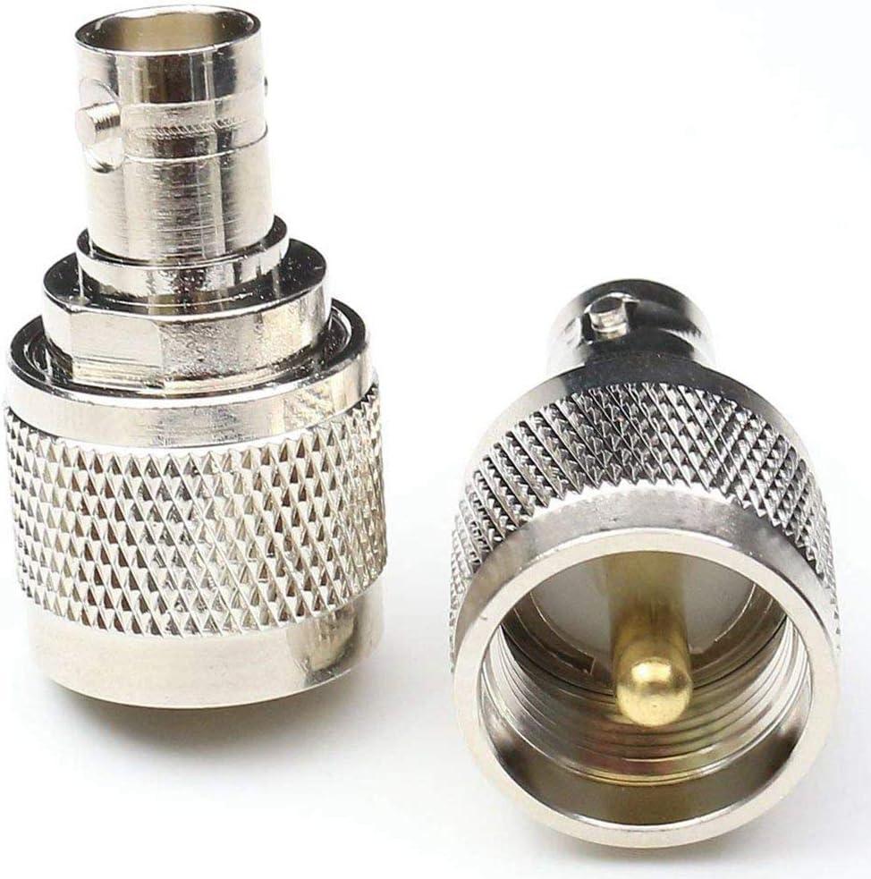 SODIAL 2 pcs RF coaxial Adaptateur coaxial BNC Femelle vers UHF Male PL-259