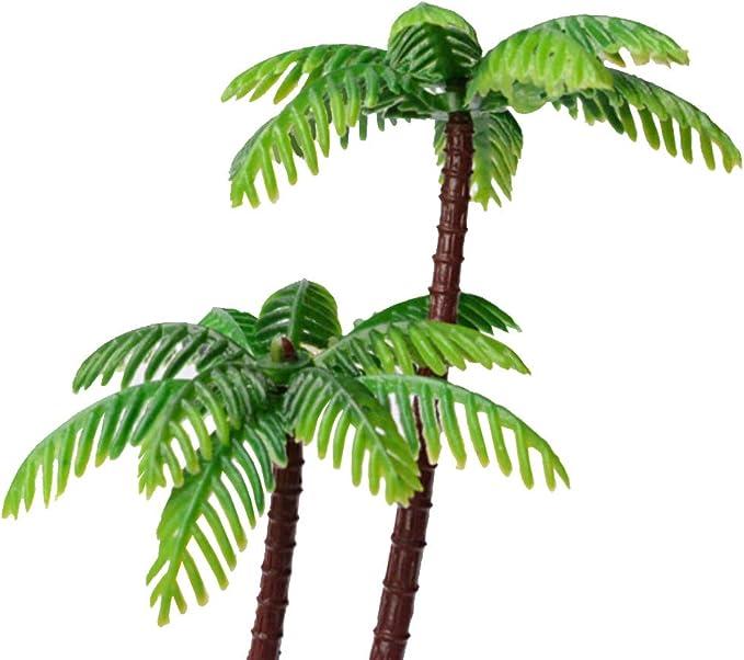 quanjucheer Lot de 5 mini palmiers de noix de coco pour d/écoration de bonsa/ï