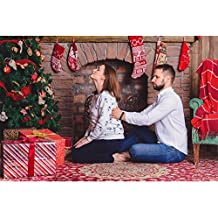 7x5ft Christmas Photo Backdrops Fabric Cloth Interior Room with Elegant Tree Photography Studio Background Props, Wrinkle Free and Seamless