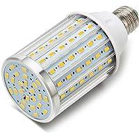 ONLT Ampoule Led, E27 35W 3000K 3450LM 108X5730SMD 350W Ampoule de haute puissance en aluminium de conversion équivalente, AC85-265V, réverbère de LED, 360 degrés projecteur, pour le garage, allée