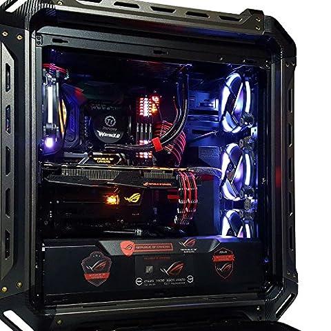 Blaze Panzer Max Ultimate Gaming Computer (VR READY, Intel i7-7700K 4.2GHz, GTX1080 OC Edition, 32GB LED DDR4, 2TB 7200RPM HDD, 960GB SSD, 480GB SSD, LiquidCooling, Windows10, Maximus IX Formula - Maximus Formula