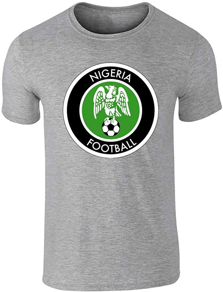 Nigeria Soccer National Team Retro Crest Graphic Tee T-Shirt for Men