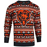Forever Collectibles Chicago Bears Logo Aztec Print Ugly Crew Neck Sweater