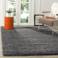 Safavieh California Premium Shag Collection SG151-8484 Dark Grey Square Area Rug (86 Square)