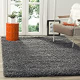 Safavieh California Shag Collection SG151-8484 Dark Grey Area Rug (6'7'...