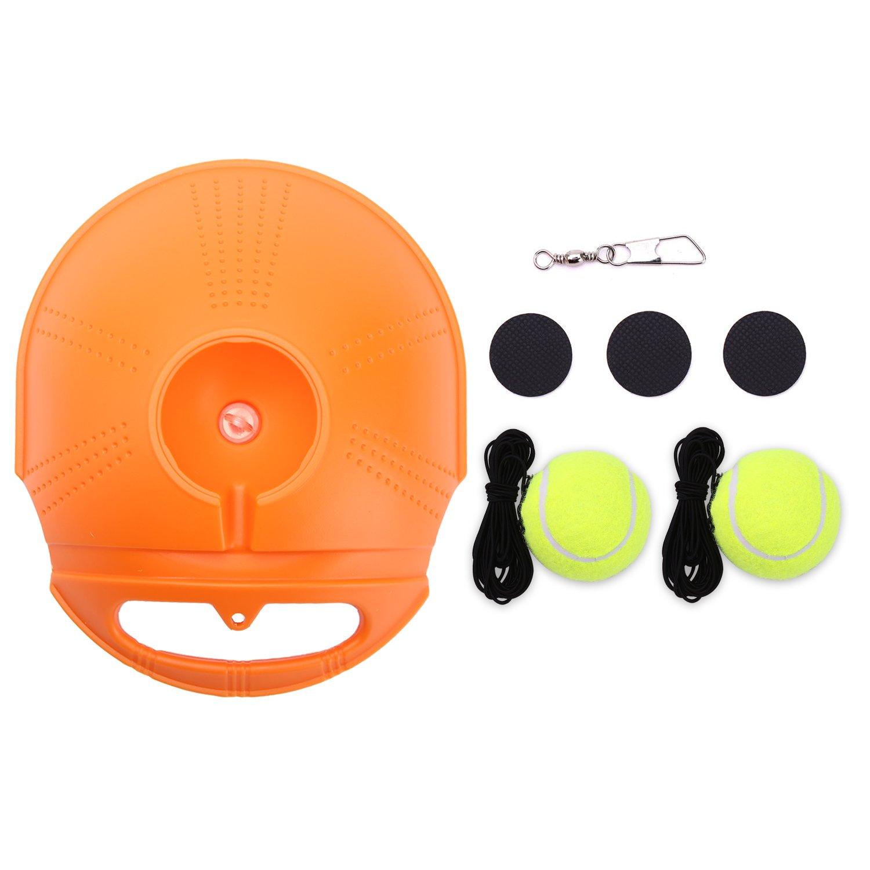 HUYIJJH Tennis Trainer Rebound Ball Set Self-study Practice Training Tool Sport Exercise Equipment for Kids Player Beginner (2 Balls)