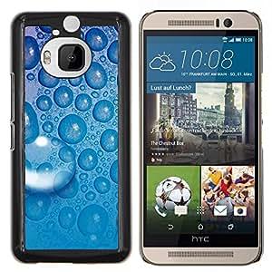 Jordan Colourful Shop - Blue Water Drop 5 For HTC One M9+ / M9 PLUS Personalizado negro cubierta de la caja de pl????stico
