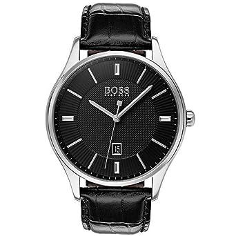 b75686ebd1849b Hugo Boss Homme Analogique Quartz Montre avec Bracelet en Cuir 1513520
