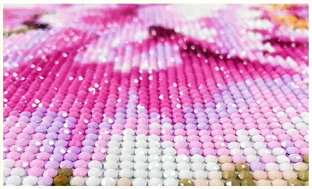 GZDXHN 5D Pintura Bricolaje Diamante Meseta Paisaje Punto de Cruz Mosaico Bordado Diamante Costura Patrones Completo Ronda Rhinestone Decoración para el hogar 40X50 CM Actividades creativas