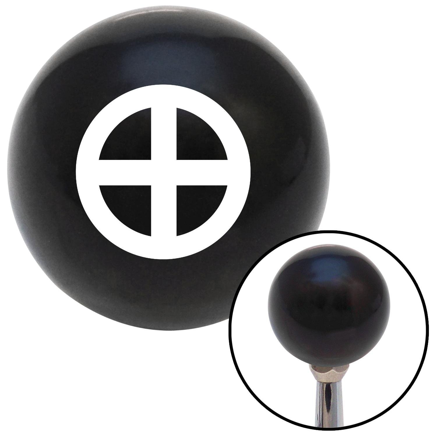 White Sun Cross American Shifter 108098 Black Shift Knob with M16 x 1.5 Insert