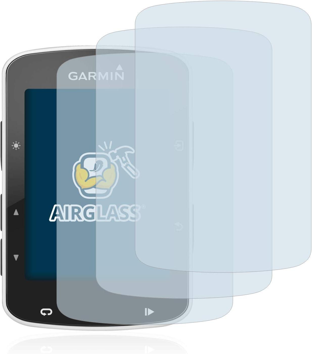 3 St/ück Anti-Fingerprint BROTECT Panzerglas Schutzfolie kompatibel mit Garmin Edge 820 - AirGlass 9H H/ärte HD-Clear