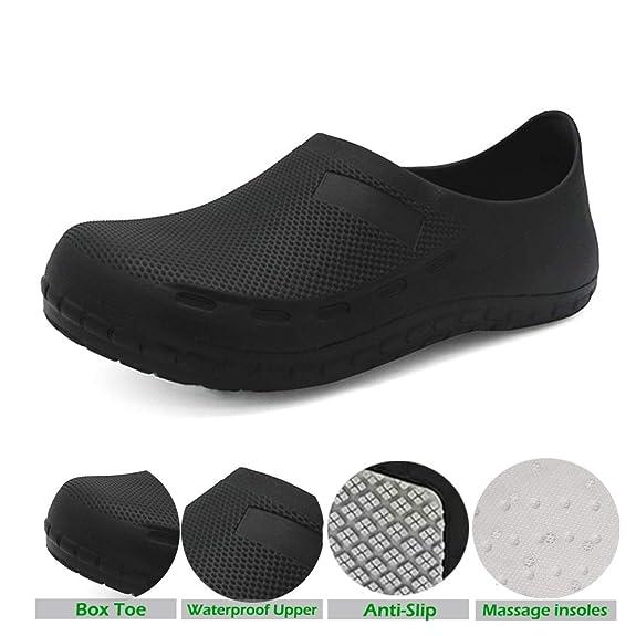 Amazon.com: FULORIS - Zapatos de trabajo de seguridad ...