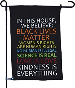 Vispronet Kindness Is Everything Garden Flag, Double-Sided Outdoor Garden Flag and Flagpole, Decorative Flag for Homes, Yards, and Gardens, 12 x 18 Inch Flag with 36 Inch Flagpole (Flag with Flagpole)