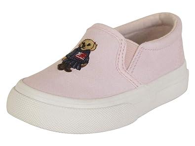 Polo Ralph Lauren Carlee Bear - Zapatillas para niña, Rosa (Rosado ...